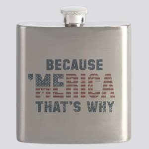 Because 'Merica Vintage Flask